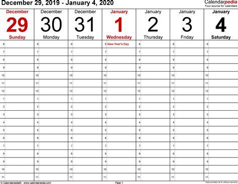january  weekly calendar   weekly calendar template monthly calendar template