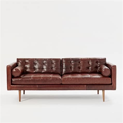 Century Leather Sofa Mid Century Leather Sofa 80 Quot West Elm