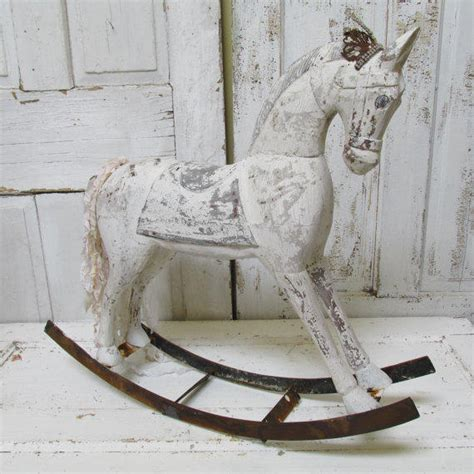 large wooden vine horse sculpture vintage home warehouse rocking horse large wooden shabby chic from