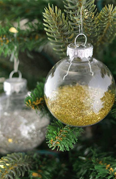clear glass ornament balls