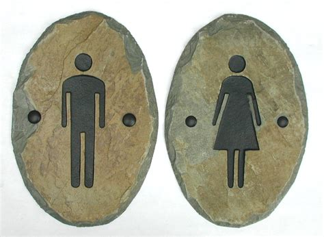 Bathroom Plaque by Slate Bathroom Signs Door Plaque