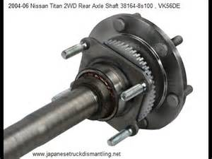 04 Nissan Titan Rear Differential How To Change Rear Differential Seal On Nissan Titan 04
