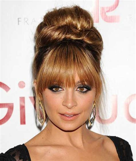 Hairstyles With Bangs by 20 Bun Hairstyles With Bangs Hairstyles Haircuts 2016