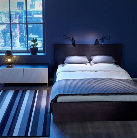 blue bedroom idea  comfortable space design amaza design