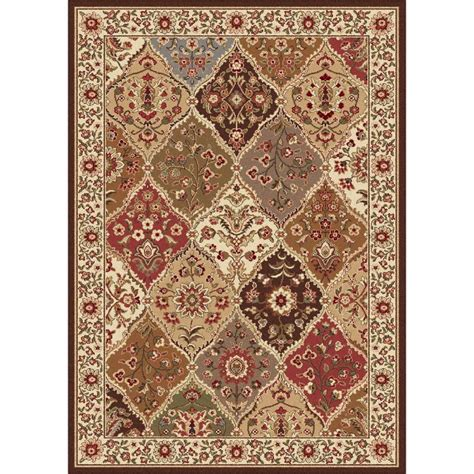 the home depot area rugs tayse rugs elegance multi 5 ft x 7 ft traditional area rug 5120 multi 5x7 the home depot