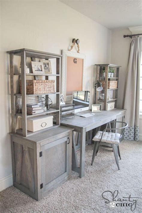 Diy Bookcase Desks Free And Diy Bookcases Home Office Desk Plans