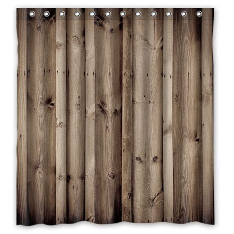 Shower Curtains Rustic New Arrival Custom Polyester Bath Curtains Print Vintage Rustic Knotty Wood Shower Curtain