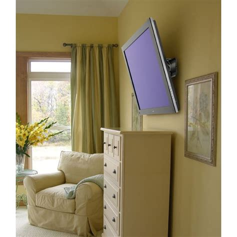 tv mounted on wall in bedroom ergotron 61 142 003 tm tilting tv wall mount xl
