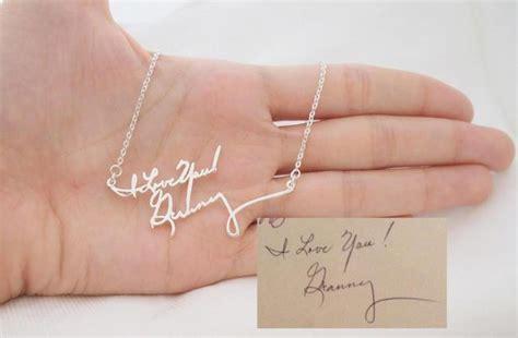 jewelry gift ideas 14 amazing handwritten jewelry gift ideas made using your