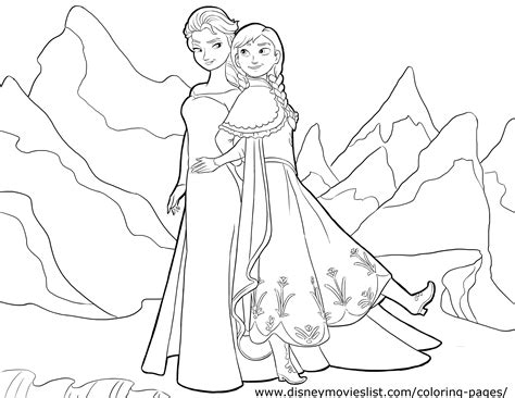 coloring page of elsa and anna anna and elsa coloring page princess anna photo
