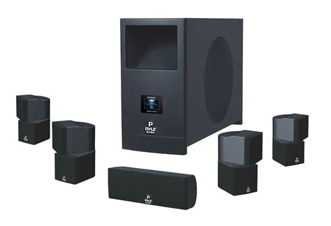 pyle audio phsa5 5 1 home theater system with 100w active