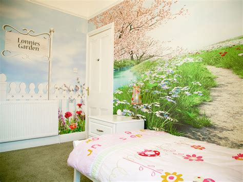 country wall murals country garden themed wallpaper murals rachie b bespoke wallpaper