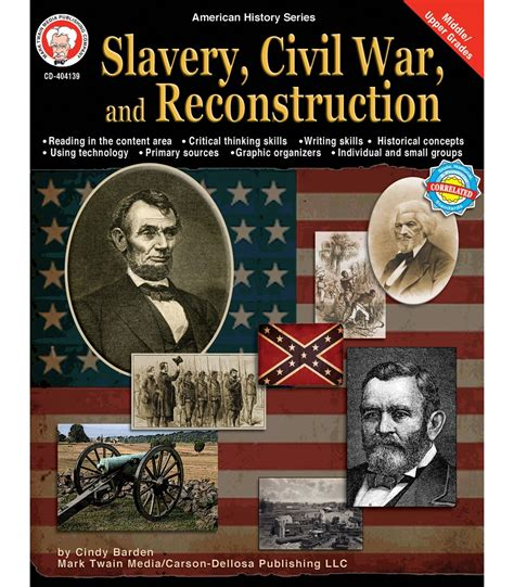slavery picture books slavery civil war and reconstruction resource book grade
