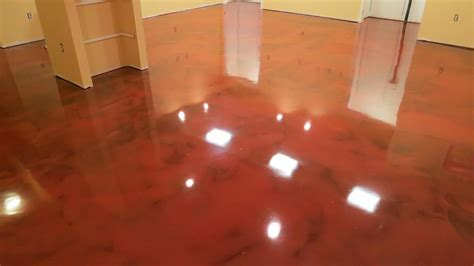DIY Metallic Epoxy Garage Floor ? The Wooden Houses