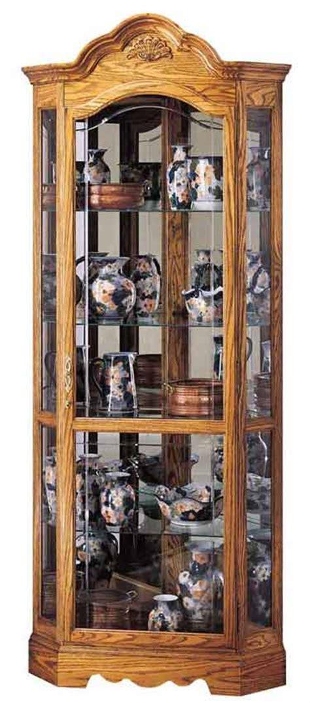 oak curio cabinets for sale howard miller 680 207 wilshire oak corner curio cabinet