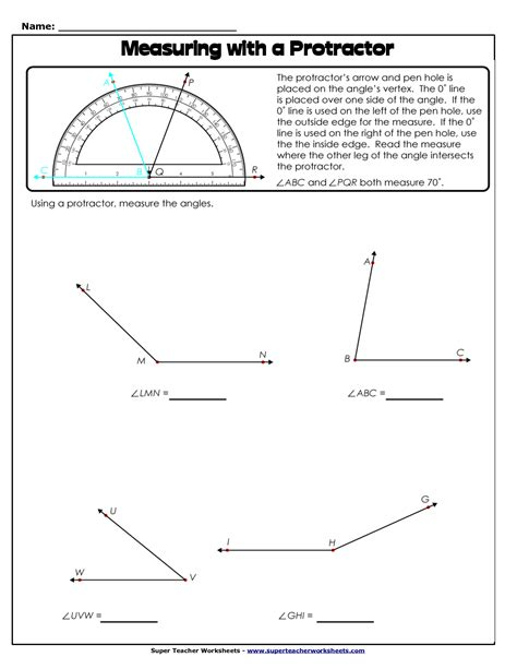 measuring angles with a protractor worksheet pdf 10 best images of measuring angles with a protractor worksheet measuring angles with