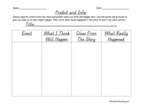 predict and infer graphic organizer have fun teaching