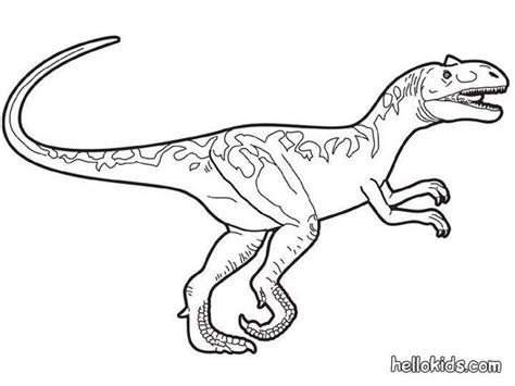 Prehistoric Allosaurus Coloring Pages Hellokids Com Allosaurus Coloring Page