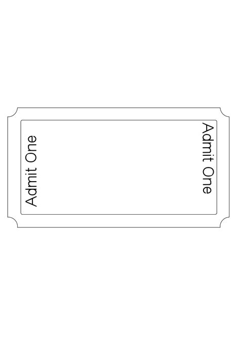 blank admission ticket template blank admission ticket clip 32