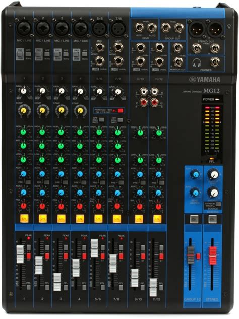 Audio Mixer Yamaha Mg 12 Xu yamaha mg12 mixer sweetwater