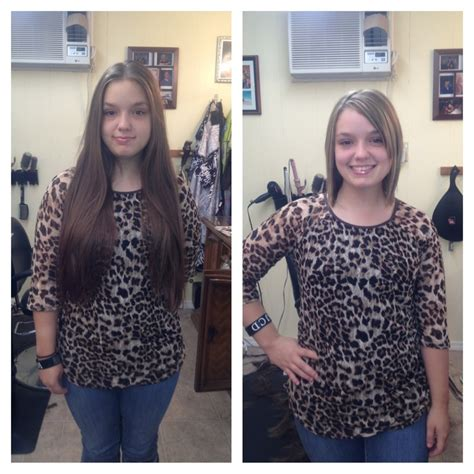 before and after images of ponytail haircuts megan before and after sent ponytail to locks of love