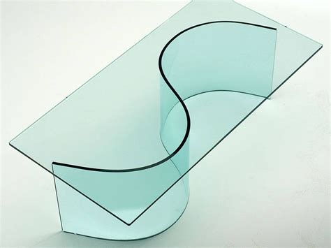 base per tavolo in vetro base in vetro curvato per tavolo in vetro siddartha