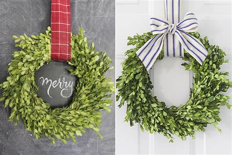 ways    boxwood wreath tutorial