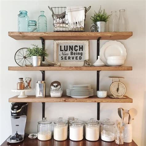 Kitchen Shelves Ideas Pinterest | 17 best ideas about open shelf kitchen on pinterest open