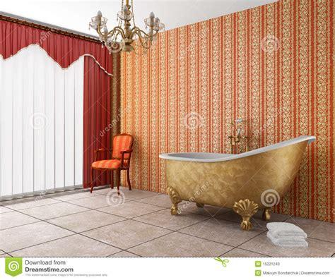 vieille baignoire salle de bains classique avec la vieille baignoire image