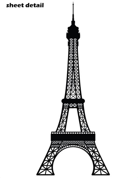 White And Gold Bathroom Accessories - eiffel tower wall decal sticker