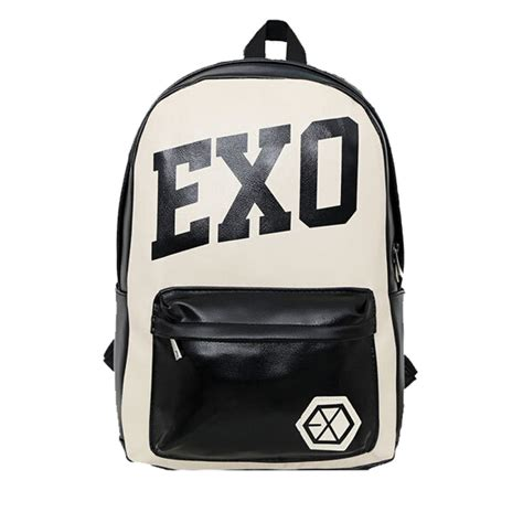 Backpack Logo Exo new exo school bag kpop xoxo vintage leather satchel