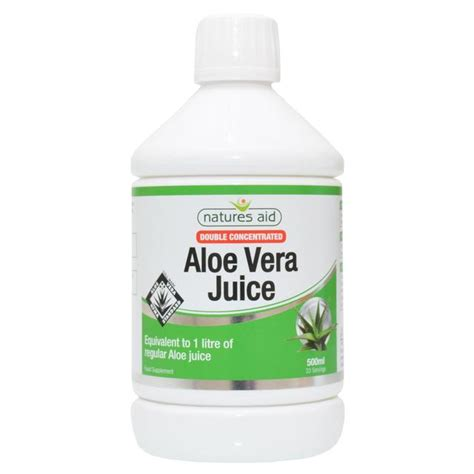 Aloe Vera Juice Detox Review by Natures Aid Strength Aloe Vera Juice 500ml From Ocado