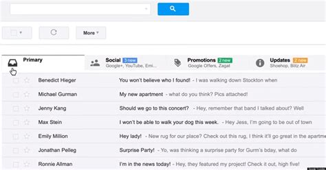 gmail inbox google unveils email  customizable tabs video huffpost