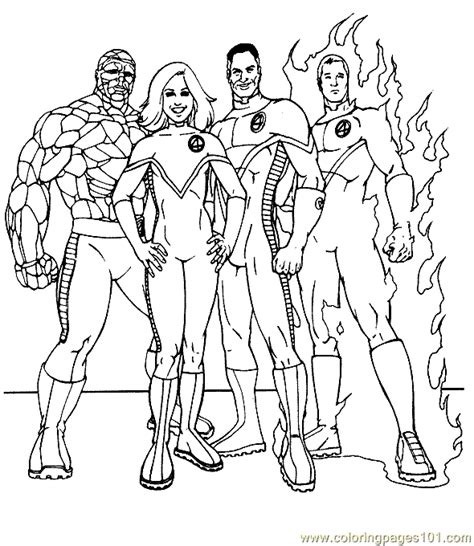 coloring pages fantastic 4 coloring page 19 cartoons