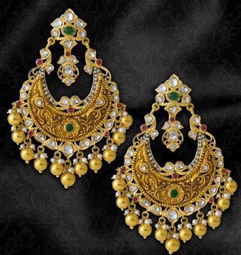 jewelry design of punjab chand bali this is so beautiful a golden within different