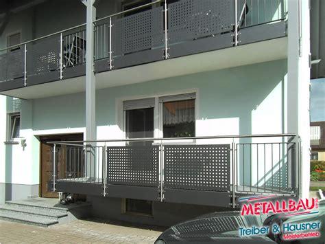 balkongeländer verzinkt metallbau treiber hausner balkongel 228 nder edelstahl