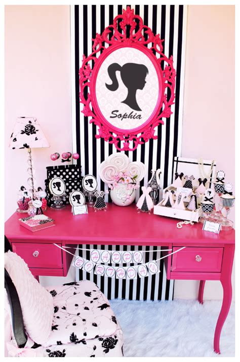 Barbie Themed Birthday Party | vintage barbie inspired birthday party pizzazzerie