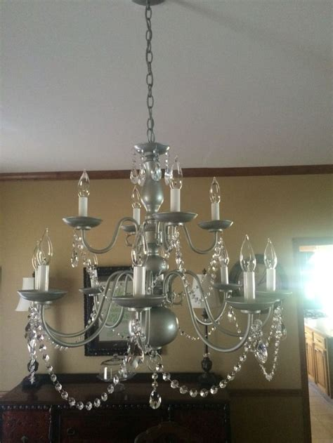 Painting Brass Chandelier 25 Best Spray Painted Chandelier Ideas On Paint Chandelier Light Fixture Makeover
