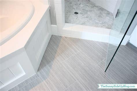 gray floor tile bathroom my girls new bathroom the sunny side up blog