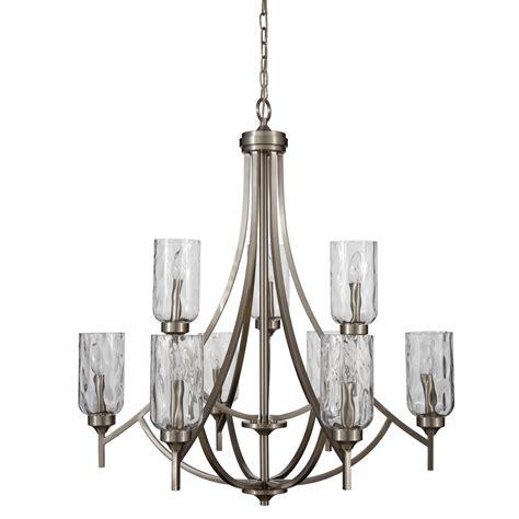 allen roth 9 light chandelier shop allen roth latchbury 9 light brushed nickel