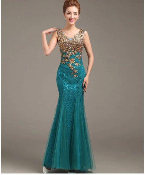 Dress Aqua Biru vestidos de noche modaecuador