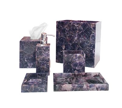 amethyst bath accessories