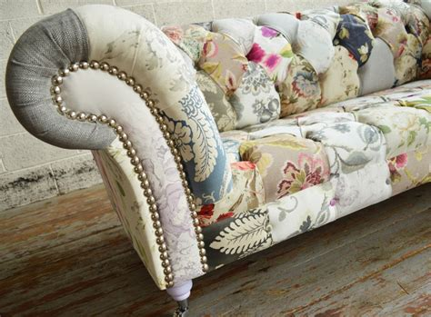 Patchwork Couches - patchwork chesterfield sofa uk brand new scroll
