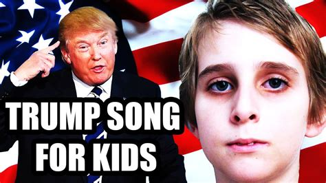 donald trump song donald trump for president song for kids youtube