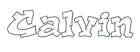 coloring page first name calvin
