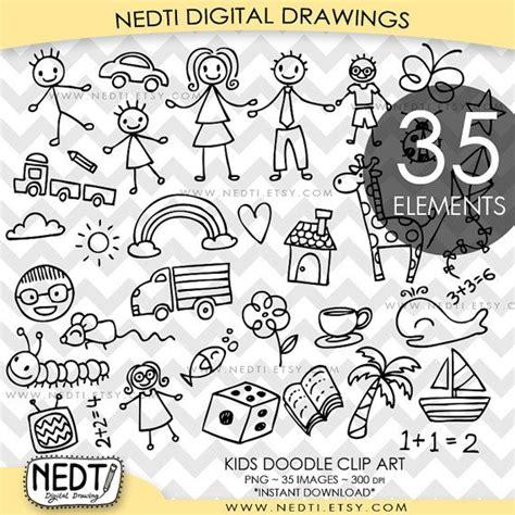 doodle 1 vs doodle 2 kid doodles clipart 45