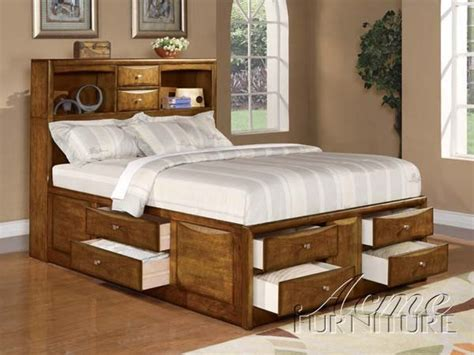 storage beds king phoenix storage king bed oak finish traditional beds