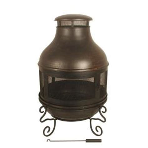 Black Metal Chiminea Black Metal Chiminea Discontinued Ds 16676 The Home Depot