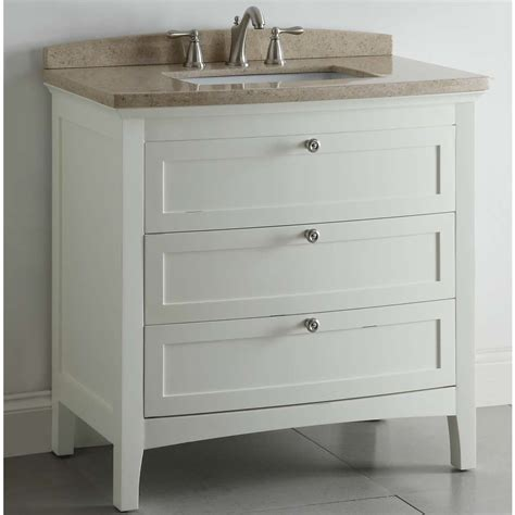 Lowes 36 Bathroom Vanity Shop Allen Roth Windleton 36 In X 22 In White Single Sink Bathroom Vanity With Marble