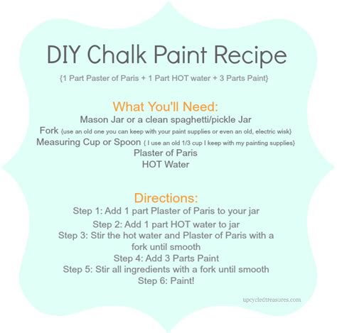 chalk paint recipe using plaster of diy chalk paint recipe upcycled treasures
